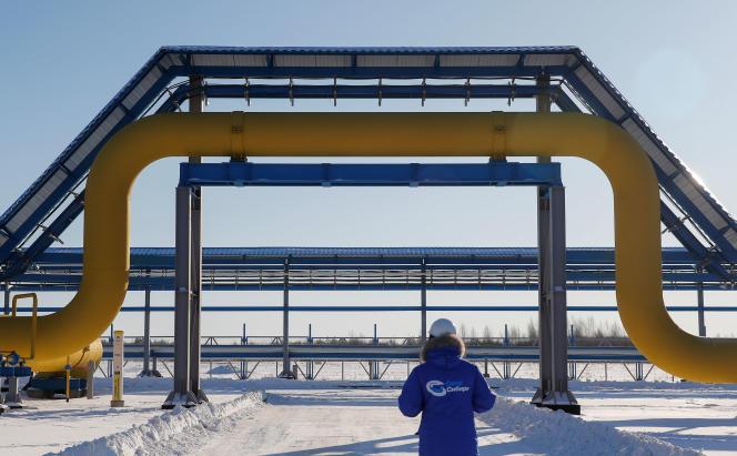 La station de compression d'Atamanskaya du gazoduc Power of Siberia le 29 novembre à Svobodny, en Russie.