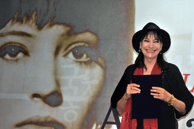 Anna Karina, au Festival international du film de Pusan, en Corée du Sud, en 2008.