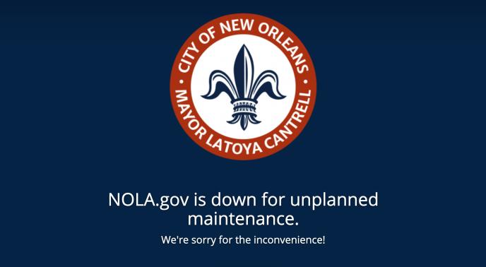 Les sites Internet de LaNouvelle-Orléans ne fonctionnent plus depuis la cyberattaque, vendredi 13décembre.