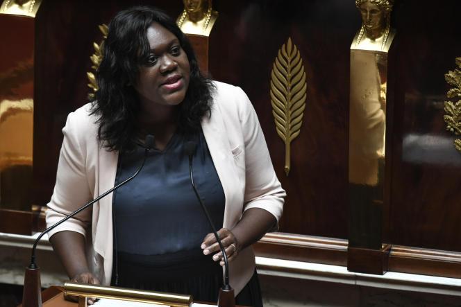 La députée (LRM) de Paris Laetitia Avia, à l'Assemblée nationale, à Paris, le 3 juillet.