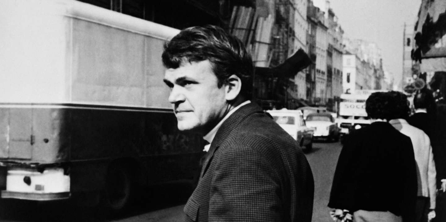 Portrait taken on October 14, 1973 shows Czech-born French writer Milan Kundera. (Photo by - / AFP)