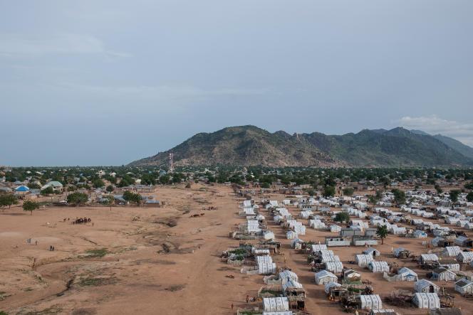 Un camp de personnes déplacées dans l'Etat du Borno, au nord-est du Nigeria en août 2018.