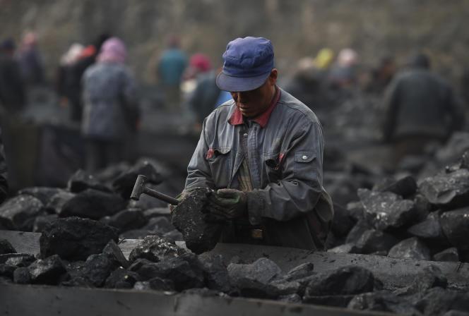 La mine de charbon de Datong (Shanxi), en Chine, en novembre 2015.