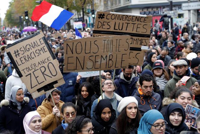 Lors d'une manifestation « contre l'islamophobie» le 10 novembre 2019 à Paris.