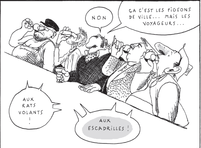 Extrait de la BD«L'Oisiveraie», deDavid Prudhomme.