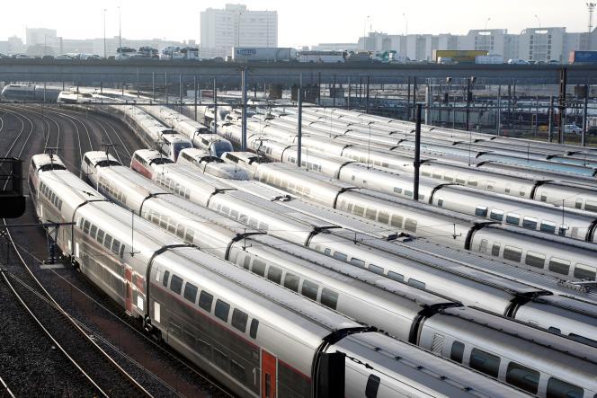 Seuls2 TGV sur 5 circuleront jeudi, selon la direction de la SNCF– ici, au dépôt de Charenton-le-Pont, près de Paris.