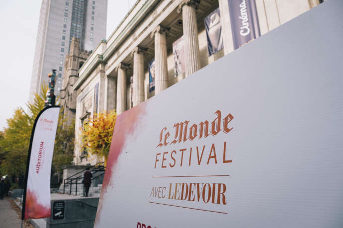 Le Monde Festival, organisé par «Le Monde»en partenariat avec «Le Devoir» s'est tenules 25 et 26 octobre 2019 au Musée des beaux arts de Montréal.