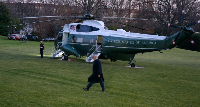 Le président américain, Donald Trump,à la Maison Blanche, à Washington, le 18décembre.