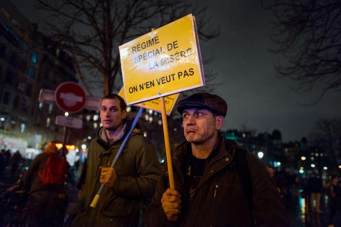 Manifestation contre la réforme des retraites, à Paris, le 17 décembre 2019.