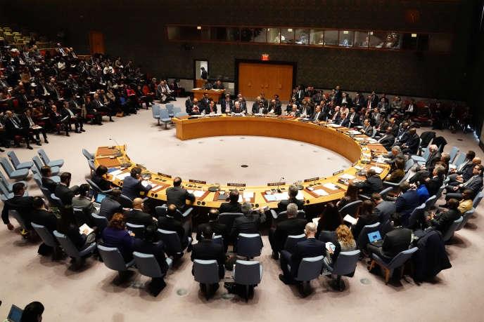 Le Conseil de sécurité de l'ONU à New York, en janvier 2019.