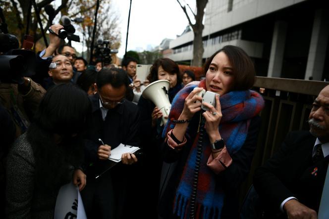 La journaliste japonaise Shiori Ito, mercredi18 décembre, à Tokyo.