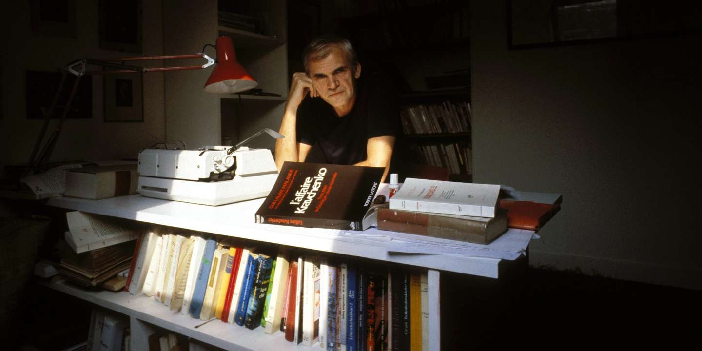 FRANCE - AUGUST 02:  The close-up of Milan Kundera, NB 186204, in Paris, France on August 02nd, 1984  (Photo by Francois LOCHON/Gamma-Rapho via Getty Images)