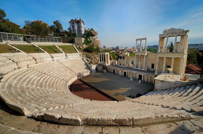 Le théâtre romain de Plovdiv, construit sous le règne de Trajan.