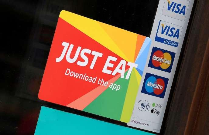 La plate-forme de livraison de repas Just Eat, à Londres, le 5 août.