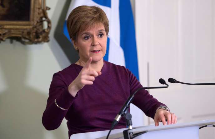 La première ministre écossaise Nicola Sturgeon à la Bute House àEdimbourg, en décembre 2019.