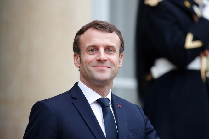Le président Emmanuel Macron à l'Elysée, le 19 décembre.