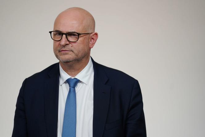 Le nouveau secrétaire d'Etat aux retraites, Laurent Pietraszewski, le 19 décembre à Matignon.