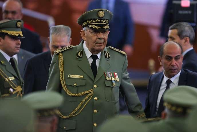 Le chef d'état-major de l'armée algérienne, le général Ahmed Gaïd Salah, ici le 19décembre2019, est mort, a annoncé la télévision publique le 23décembre.