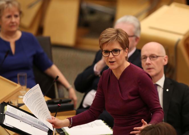 La première ministre écossaise, Nicola Sturgeon, à Edimbourg, le 19 décembre 2019.