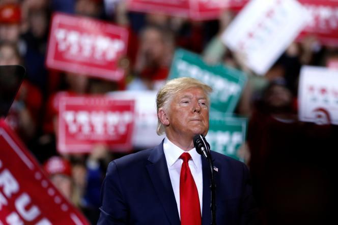 Le président Donald Trump en meeting de campagne«Keep America Great» à Battle Creek (Michigan), le 18 décembre.