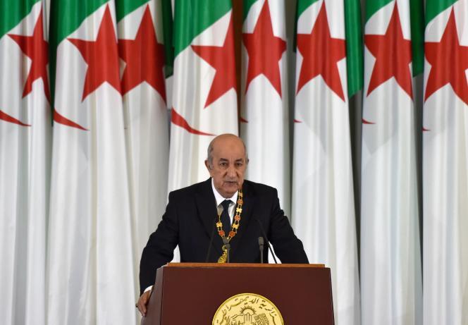 Abdelmadjid Tebboune, le nouveau président algérien, prête serment lors d'une cérémonie officielle, à Alger, le 19 décembre 2019.