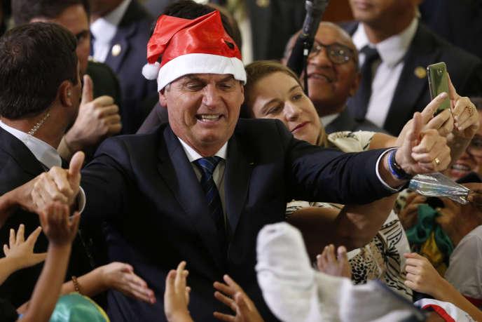 Jair Bolsonaro à Brasilia, le 19 décembre 2019.