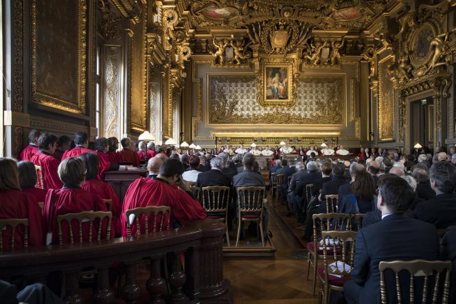 Une audience à la Cour de cassation au Palais de justice de Paris, le 14 janvier.