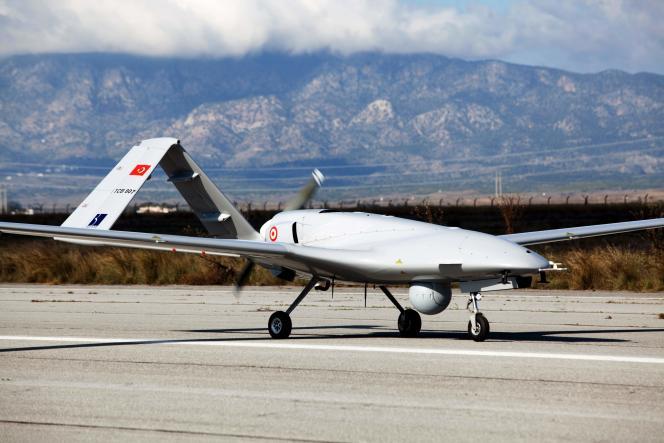 Un des drones de surveillance Bayraktar TB2 envoyés vers la partie de Chypre contrôlée par la Turquie, le 16 décembre 2019.