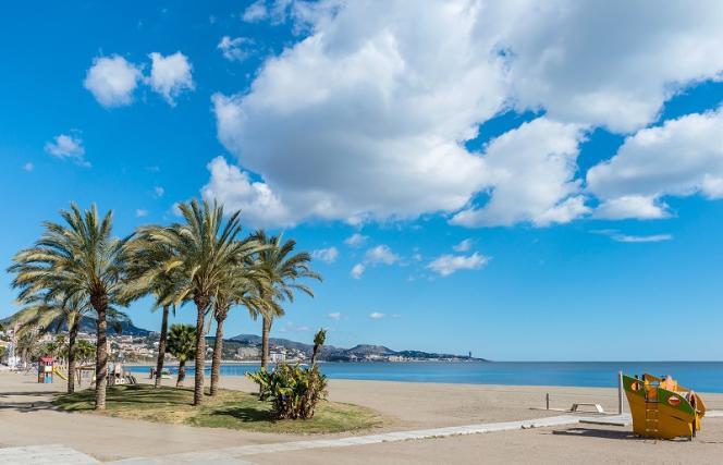 La plage de la Malagueta.