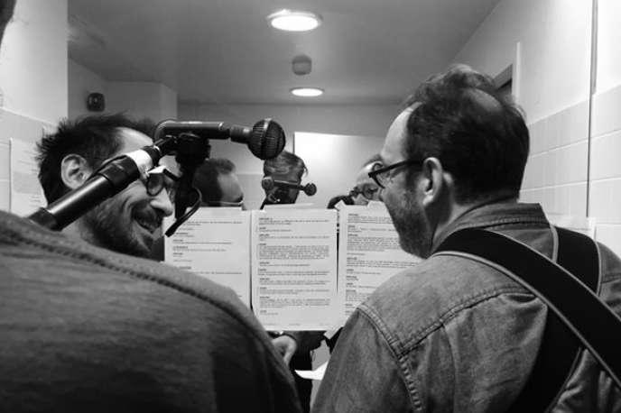 Yannick Choirat et Hervé Pierre enregistrent leur voix pour la troisième saison de «57, rue de Varenne».