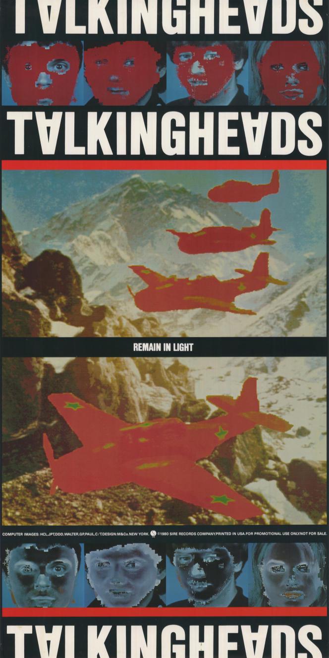 Poster des Talking Heads pour l'album Remain in Light (1980).