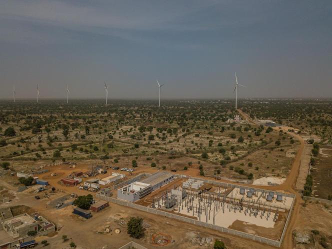 Le parc éolien de la centrale électrique de Taiba Ndiaye (Sénégal), la plus grande d'Afrique de l'Ouest.