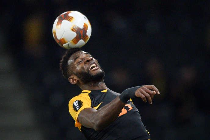 Jean-Pierre Nsamé lors d'un match des Young Boys face au Dynamo de Kiev, à Berne, le 2 novembre 2017.
