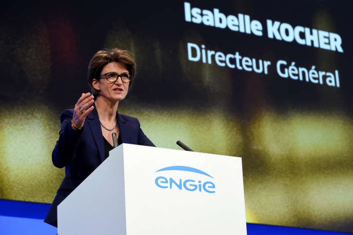 Isabelle Kocher, directrice générale d'Engie, en mai, à Paris.