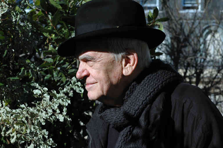 Portrait of Milan Kundera at his place 19/02/2009 ©Catherine HELIE/Gallimard/Opale/Leemage