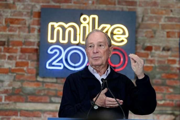 Le milliardaire américain, qui a annoncé à la fin de novembre sa candidature à l'investiture démocrate pour l'élection présidentielle de 2020, ici à Détroit le 21 décembre.