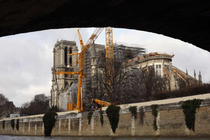 La cathédrale Notre-Dame de Paris, le 23 décembre.