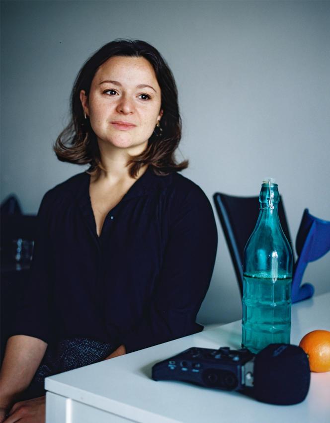 Élodie Contino chez elle, à Strasbourg, le 19 décembre.