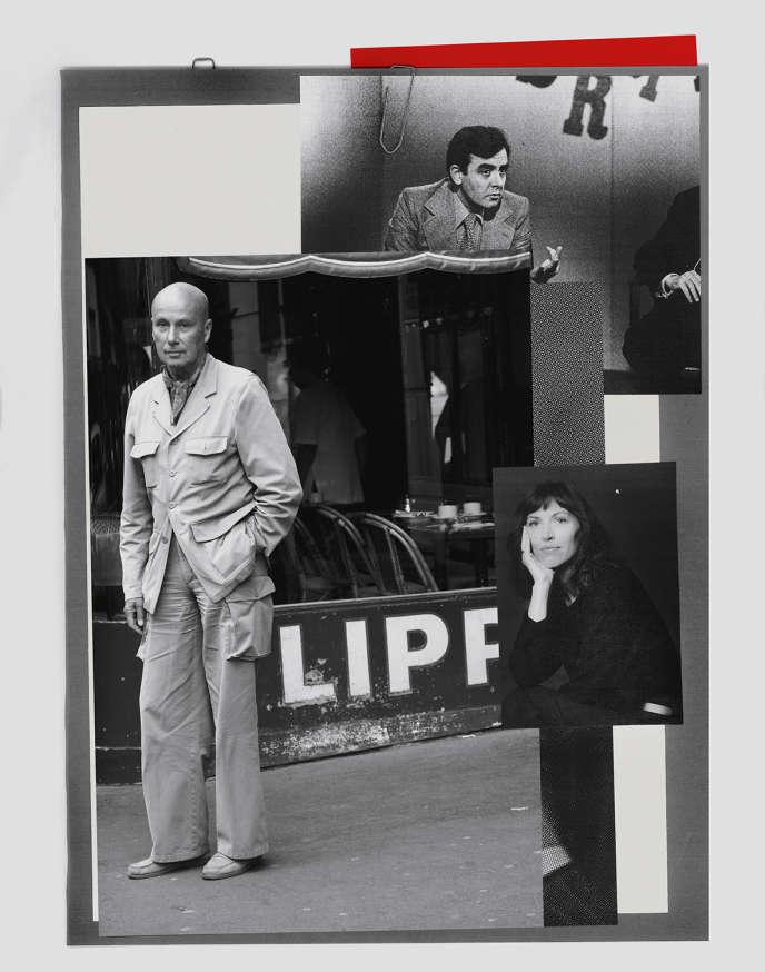 Gabriel Matzneff en 2006. À droite, l'éditrice Vanessa Spingora. En haut, Bernard Pivot (en 1978), qui a reçu l'écrivain à six reprises dans son émission «Apostrophes». Collage d'après les photosde Jean-Philippe Baltel/Sipa, Rue des Archives/Agip Jean-Francois Paga/Opale via Leemage.