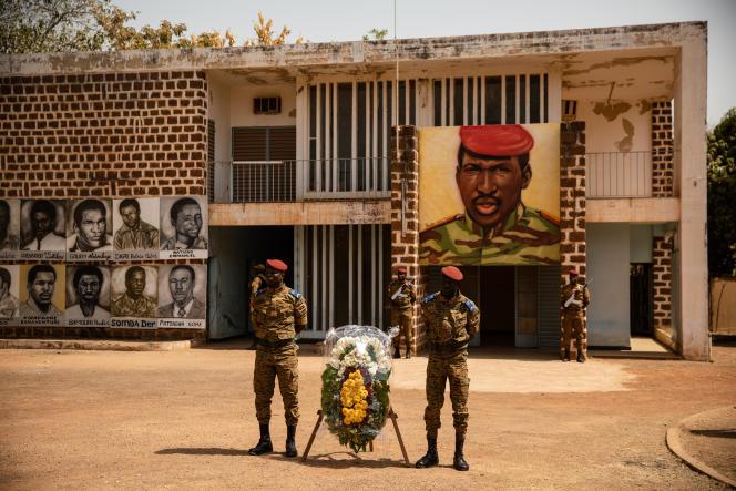 Inauguration d'un monument à la mémoire de Thomas Sankara au Conseil de l'entente à Ouagadougou,le 2 mars 2019.