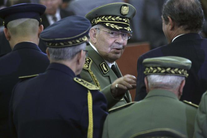 Le général Gaïd Salah le 19 décembre lors de l'investiture d'Abdelmadjid Tebboune à Alger.
