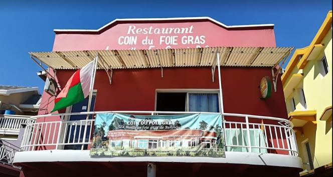 Le restaurant Coin du foie gras, dont les propriétaires sont également producteurs, àBehenjy, à une trentaine de kilomètres au sud d'Antananarivo.