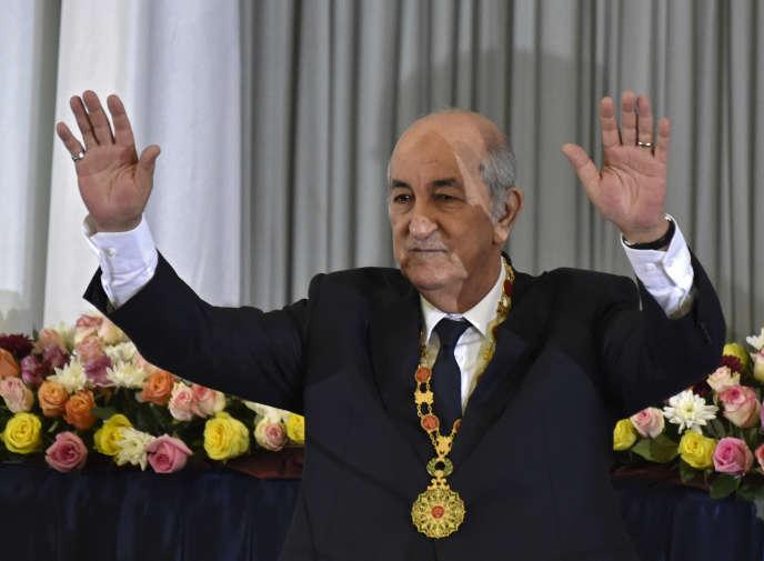 Le président algérienAbdelmadjid Tebboune, à Alger, le 19 décembre.