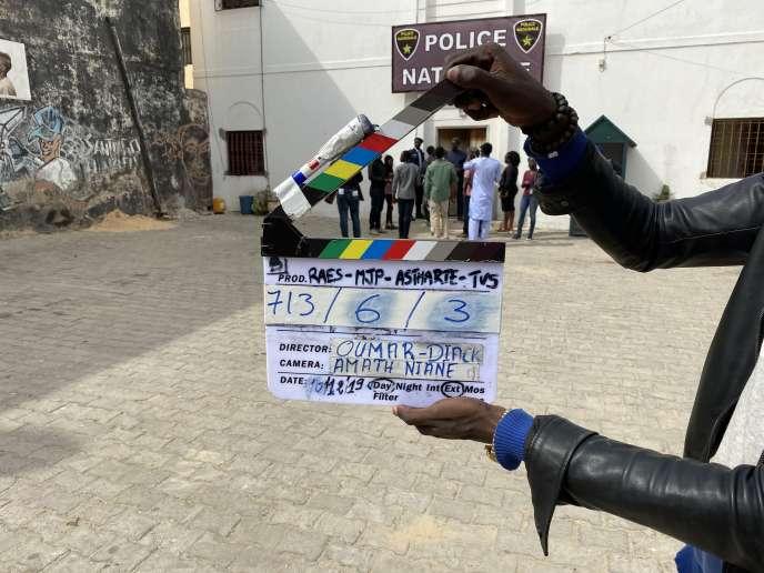 Sur le tournage de la série «Wara», en décembre 2019, à Saint-Louis, au Sénégal.
