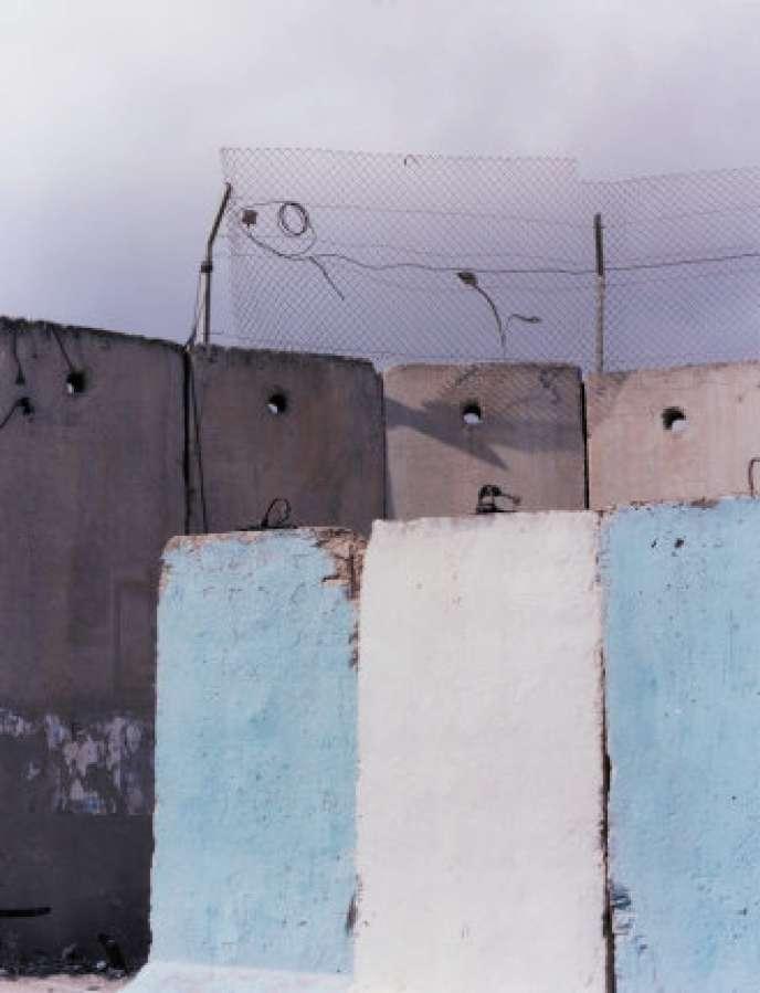 Pan de mur au poste-frontière de Kalandia, entre Ramallah et Jérusalem, 2019.