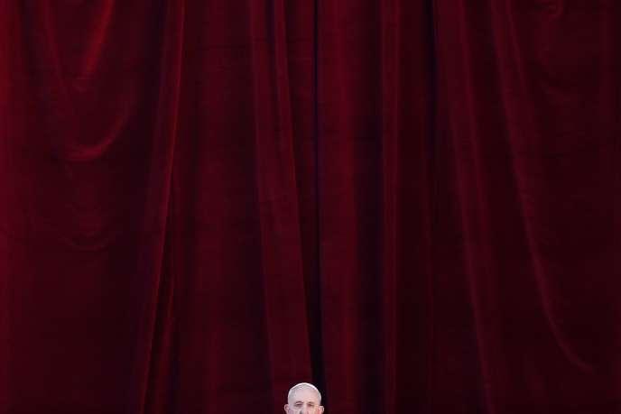 Le pape François lors de son message« urbi et orbi» en la basilique Saint-Pierre du Vatican, le 25 décembre.