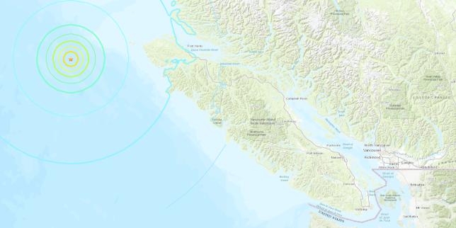Canada: un tremblement de terre de magnitude 6,3 à l'ouest de Port Hardy