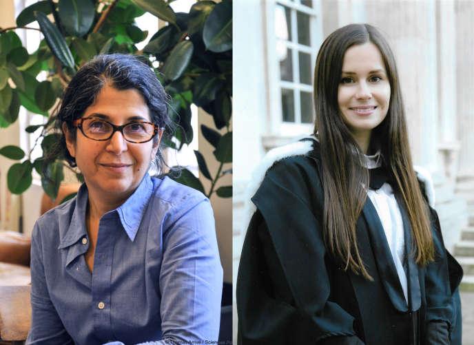 Fariba Adelkhah, à gauche, et Kylie Moore-Gilbert.
