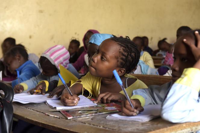 Dans une école de Dakar en 2018.