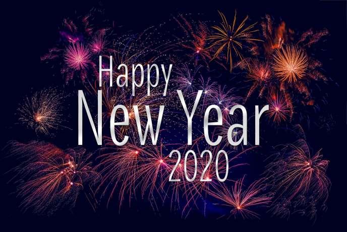 Des voeux étincelants pour la nouvelle année.